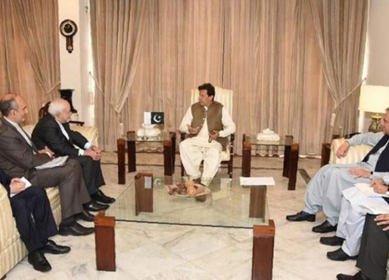 ایرانی وزیر خارجہ کی پاکستانی وزیر اعظم عمران خان سے اہم ملاقات