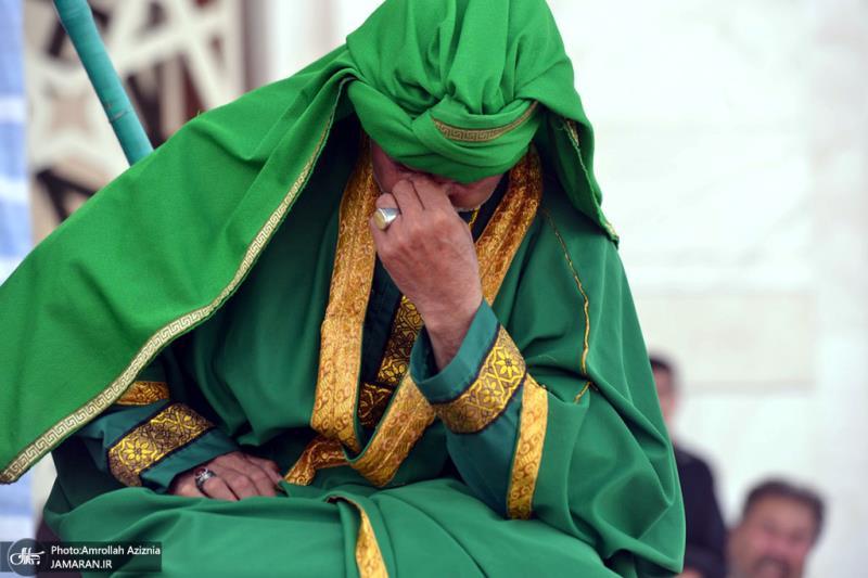 حرم امام خمینی میں تعزیہ خوانی کی تقریب منعقد ہوئی۔