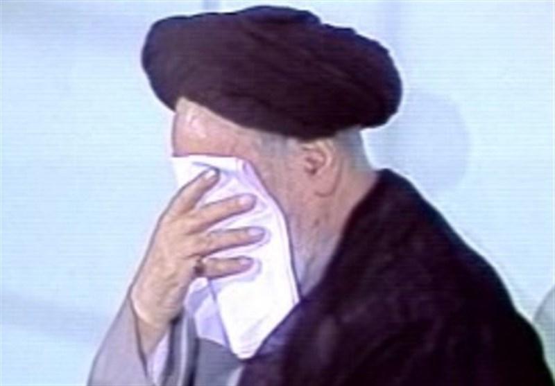 جماران امام بارگاہ ، امام خمینی (رح) کی موجودگی میں مرحوم کوثری کا نوحہ خوانی