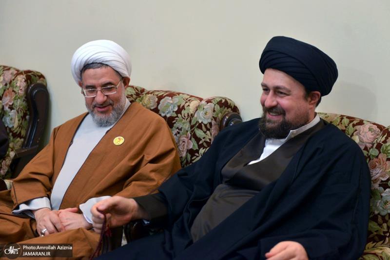تصویری رپورٹ/ تینتیسویں بین الاقوامی وحدت اسلامی کانفرنس کے شرکاء نے امام خمینی(رح)کے پوتے سید حسن سے ملاقات کی۔