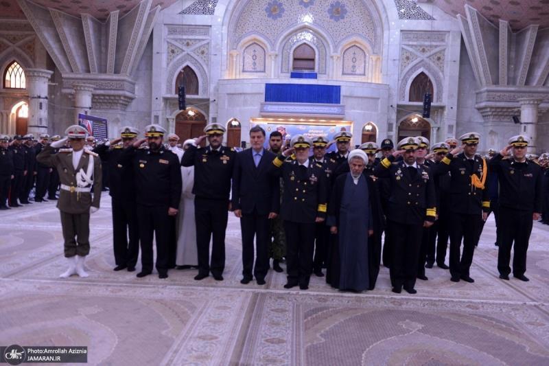 اسلامی جمہوریہ ایران کی بحریہ کے کمانڈر اور اعلی حکام نے اسلامی انقلاب کے بانی سے تجدید عہد کیا