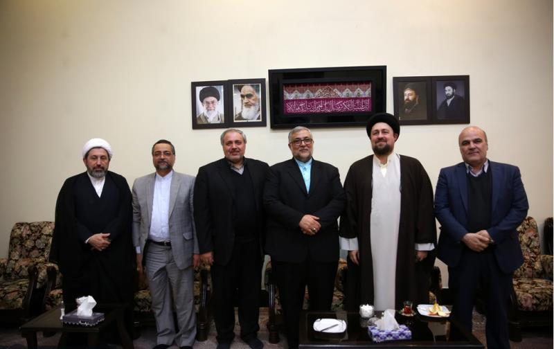 سازمان فرھنگ و ارتباطات اسلامی کے سربراہ نے حجۃ الاسلام والمسلمین سید حسن خمینی سے ملاقات کی