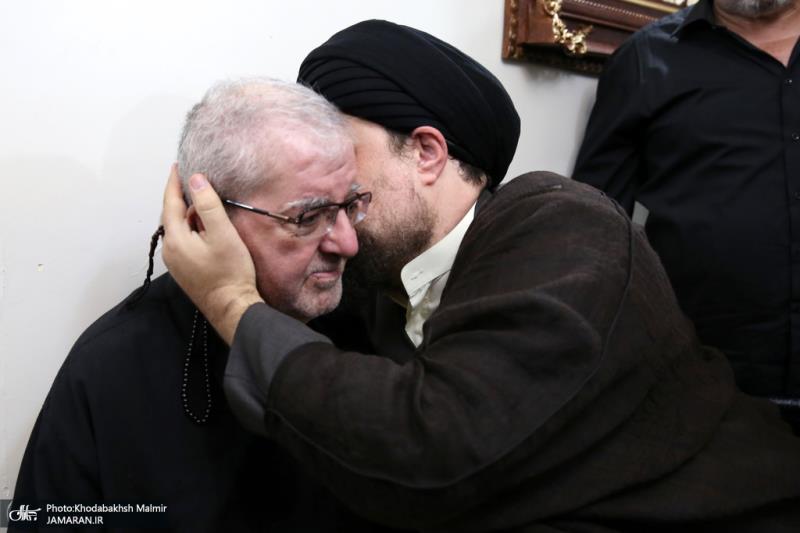 یاد گار امام خمینی نے مرثیہ خوان حجت اللہ کسری کی عیادت کی
