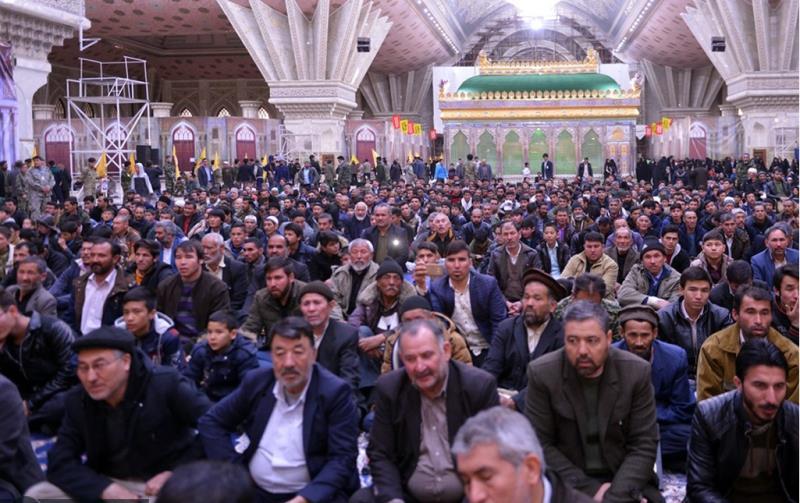 امام خمینی(رح) کے حرم میں پہلی بار شہداء مدافع حرم فاطمیون کو خراج عقیدت پیش کیا گیا
