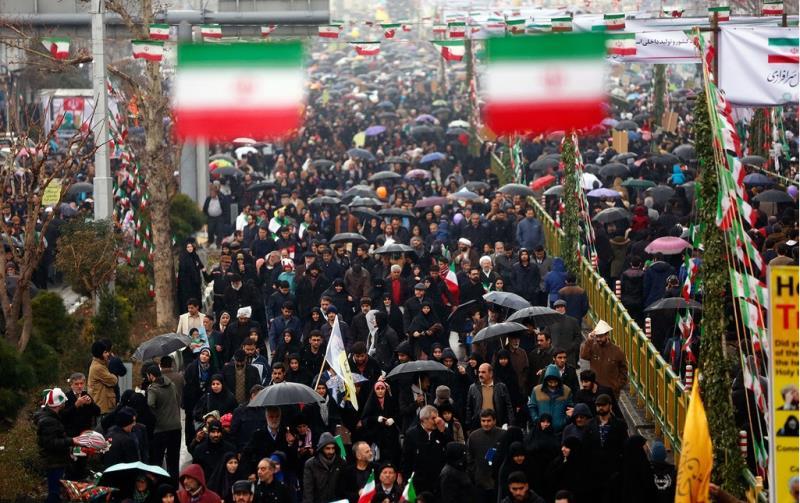 تہران میں اسلامی انقلاب کی مناسبت سے عظیم الشان ریلی