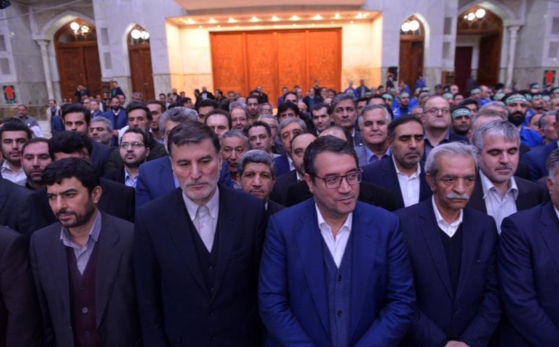 عشرہ فجر کے موقع پر، اینڈسٹری، مائن اور تجارت کے وزیر اور مینیجرز  کی حرم امام خمینی (رح) میں حاضری اور ان کی تمناؤں سے تجدید عہد /2020