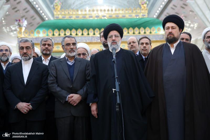 تصویری رپورٹ/ اسلامی جمہوریہ ایران کی عدلیہ کے سربراہ اور اعلی حکام نے اسلامی انقلاب کے بانی سے تجدید عہد کیا