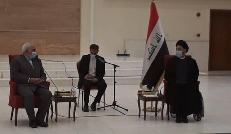 ایرانی وزیر خارجہ ڈاکٹر ظریف کی سید عمار حکیم سے ملاقات