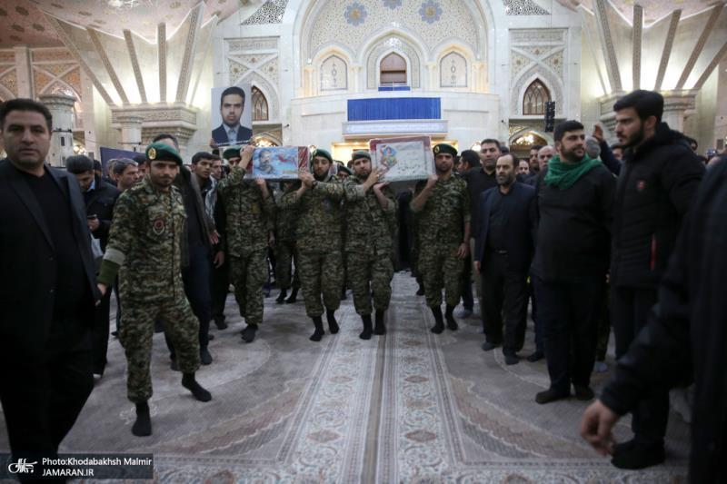حرم امام خمینی میں شہداء کا والہانہ استقبال
