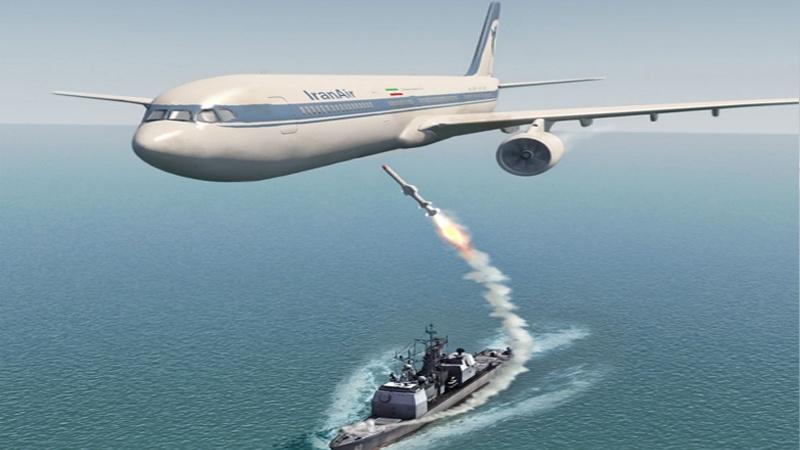 امریکا نے مسافر بردار طیارے کو مار گرایا 290 مسافر شہید