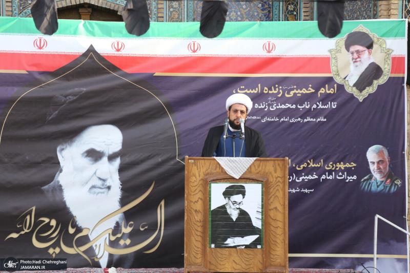 مدرسہ فیضیہ قم میں امام خمینی (رح) کی خراج تحسین کی مناسبت سے تقریب