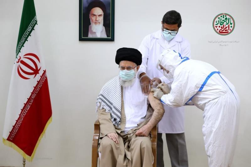 رہبر انقلاب اسلامی نے کورونا ویکسین کی دوسری ڈوز بھی لے لی