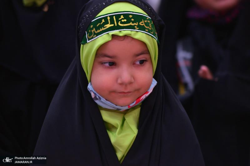 حرم امام خمینی (رح) پر؛ حسینی (ع) تین سالہ بچیوں کا اجتماع/2021