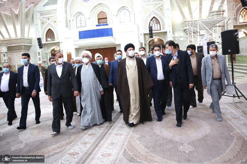 اسلامی جمہوریہ ایران کی ہلال احمر کے سربراہ اور اعلی حکام اسلامی انقلاب کے بانی حضرت امام خمینی سے تجدید عہد کیا