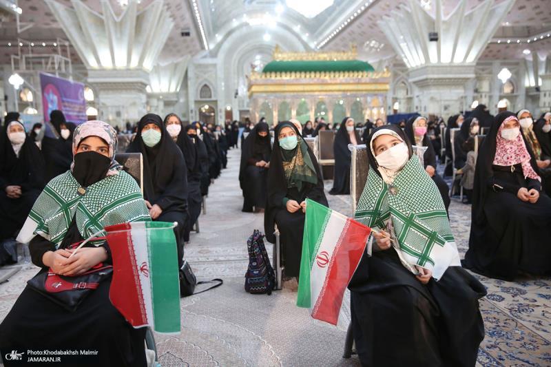 حرم امام خمینی (رح) میں، حضرت زہراء (س) اور امام خمینی (رح) کی ولادت کی تقریب/2021ء