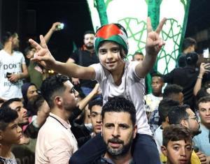 جنگ بندی کے بعد غزہ میں فلسطینیوں نے منایا جیت کا جشن