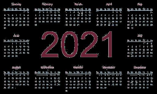 2021 کلینڈر