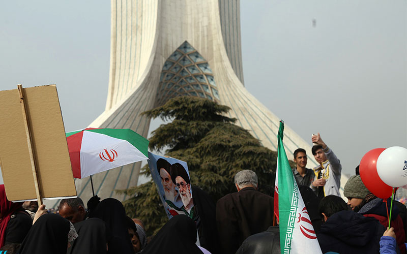 Millions of Iranians staged mass nationwide rallies to mark the 38th anniversary of the Islamic Revolution