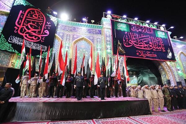 Des drapeaux de deuil au-dessus des saints mausolées en Irak